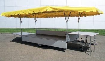 RUKU - Marktanhänger geöffnet gelb