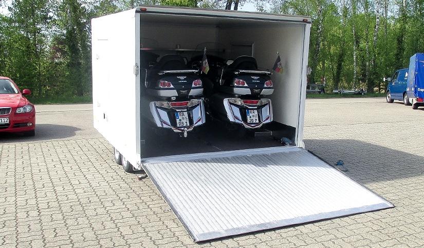 RUKU - Motorrad-Anhänger hinten offen