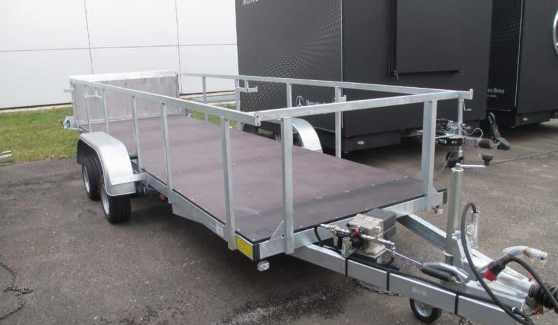 RUKU Absenkanhänger für Rollcontainertransport voll